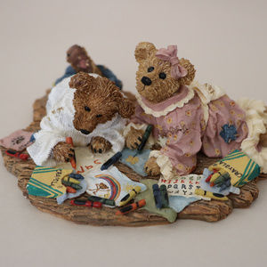 Boyds Bear Resin Sam & Jenny Picture Perfect Sampl